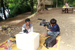 Smey filming in Banlung, Cambodia