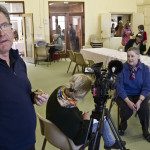 Steve and Jenny filming in Cowra