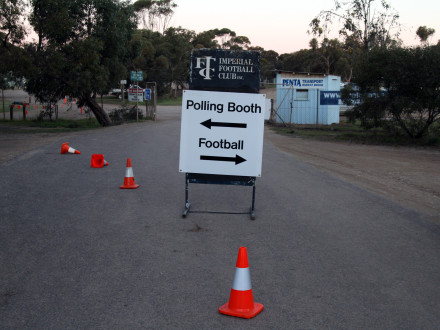 Voting or Football? Tough choices in Murray Bridge